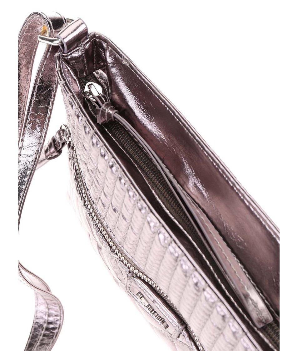 Metalická prošívaná crossbody kabelka Tamaris Sophie