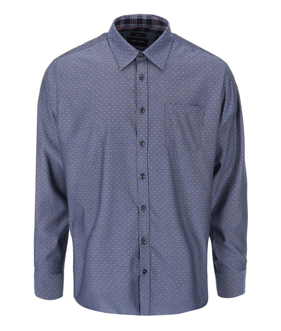Šedomodrá košile s puntíky Jacks