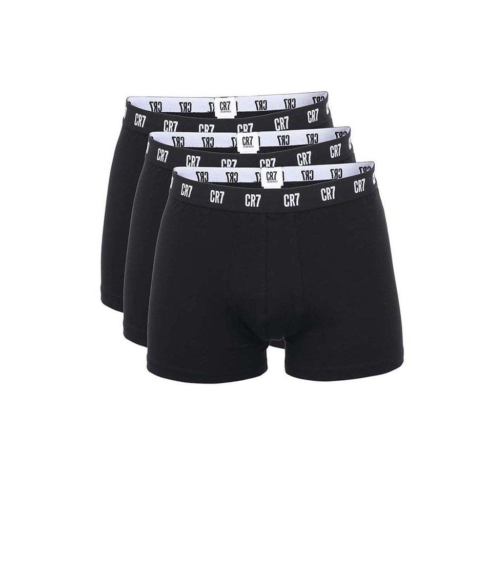 Sada tří černých boxerek CR7