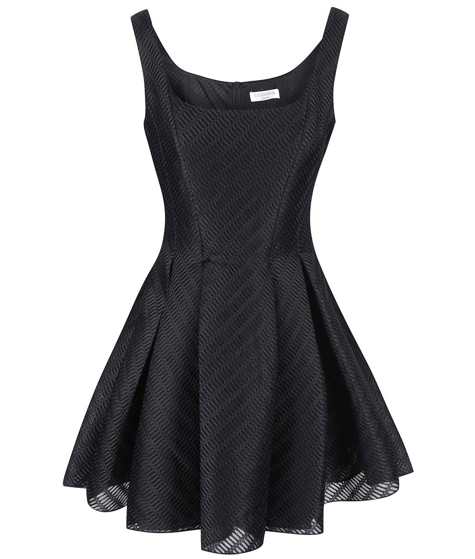 Černé skater šaty Goddiva