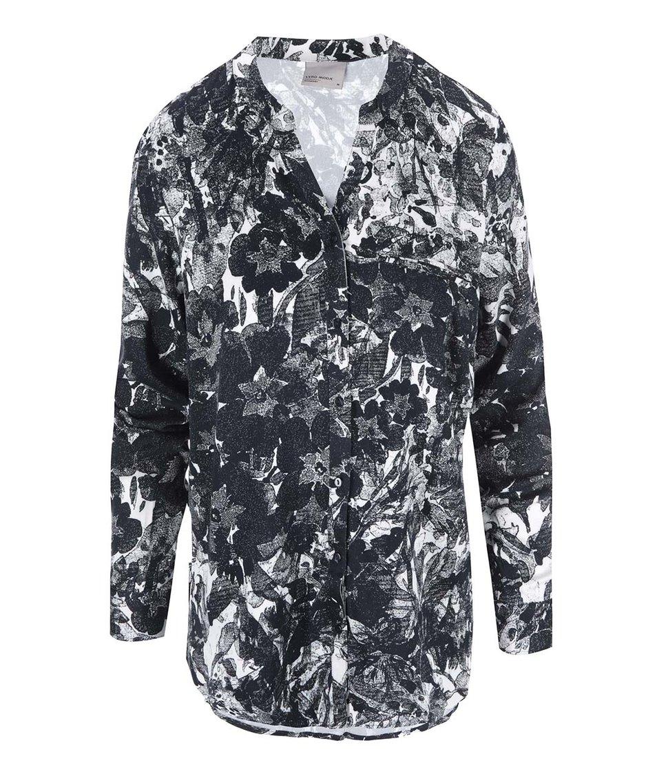 Černá vzorovaná košile Vero Moda Measy