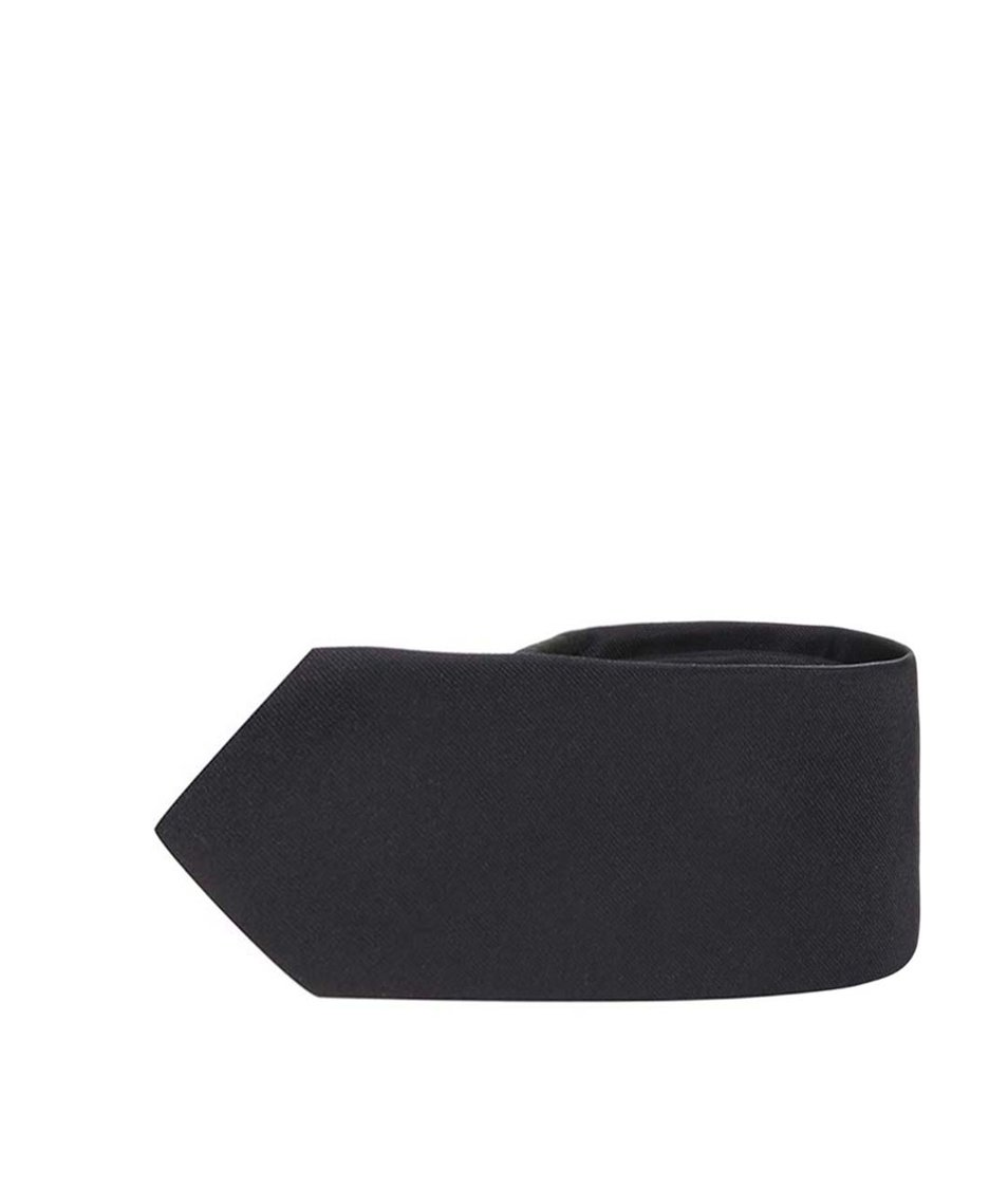 Černá hedvábná kravata Selected Homme Plain