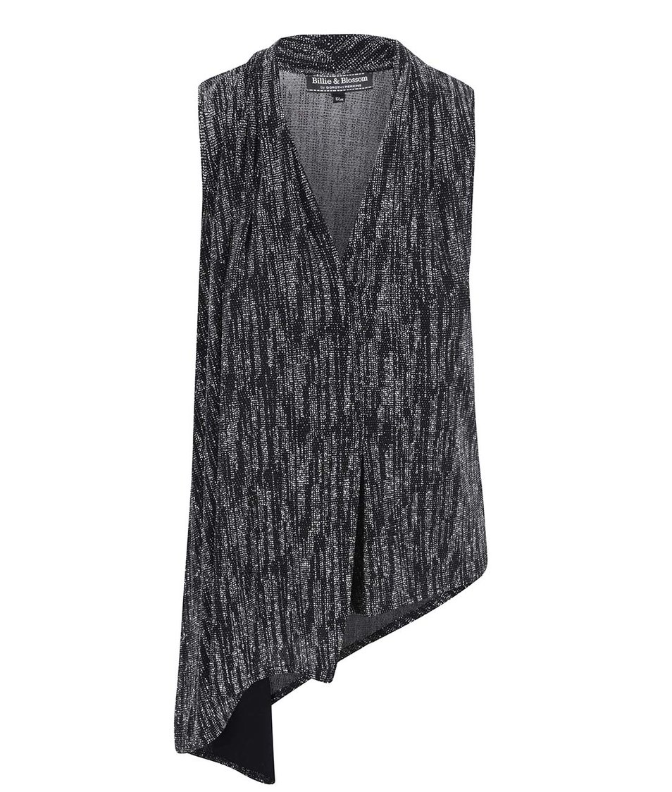 Černý top s metalickými odlesky Dorothy Perkins