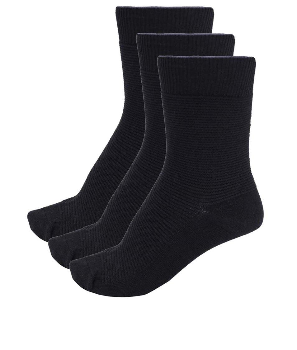 Set tří párů černých ponožek Selected Homme