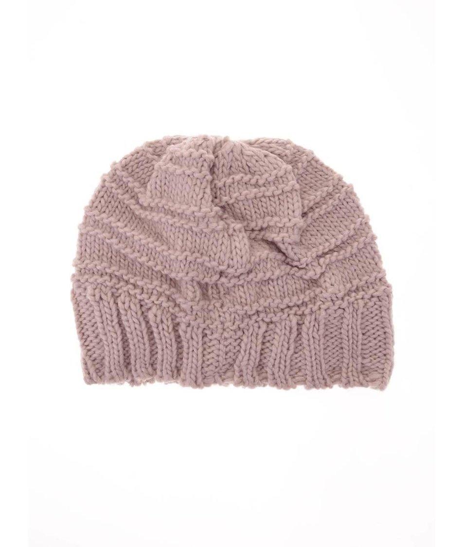 Růžová pletená čepice Haily´s Strickmütze