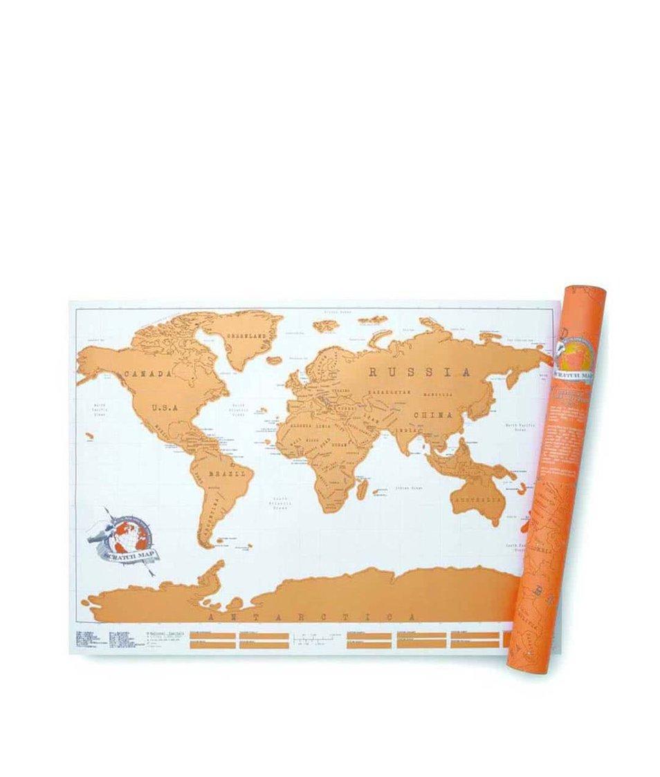 Velká stírací nástěnná mapa Luckies