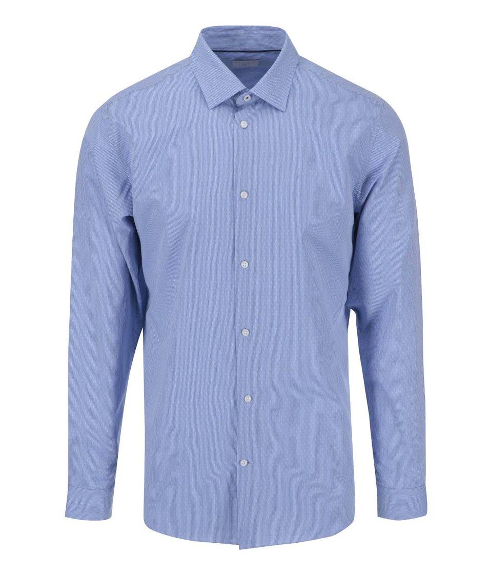 Modrá vzorovaná formální košile s kapesníčkem Selected Homme Jim