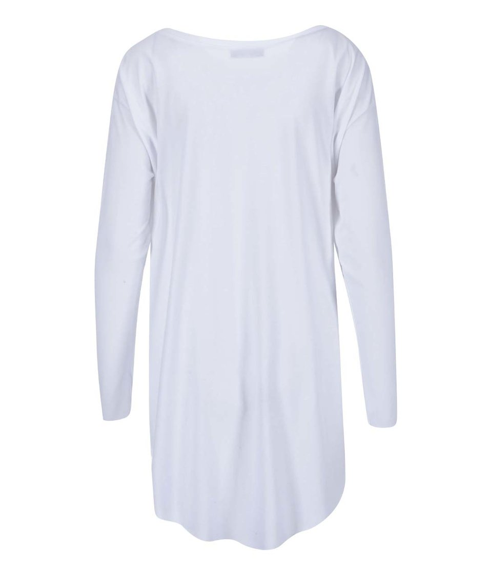 """""""Dobré"""" bílé dámské oversized tričko Metráž"""