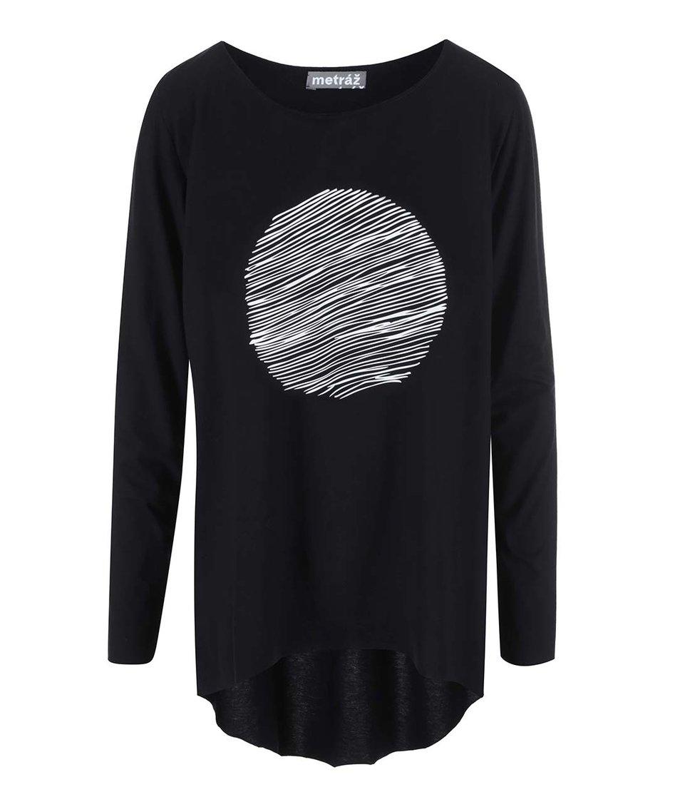 """""""Dobré"""" černé dámské oversized tričko Metráž"""