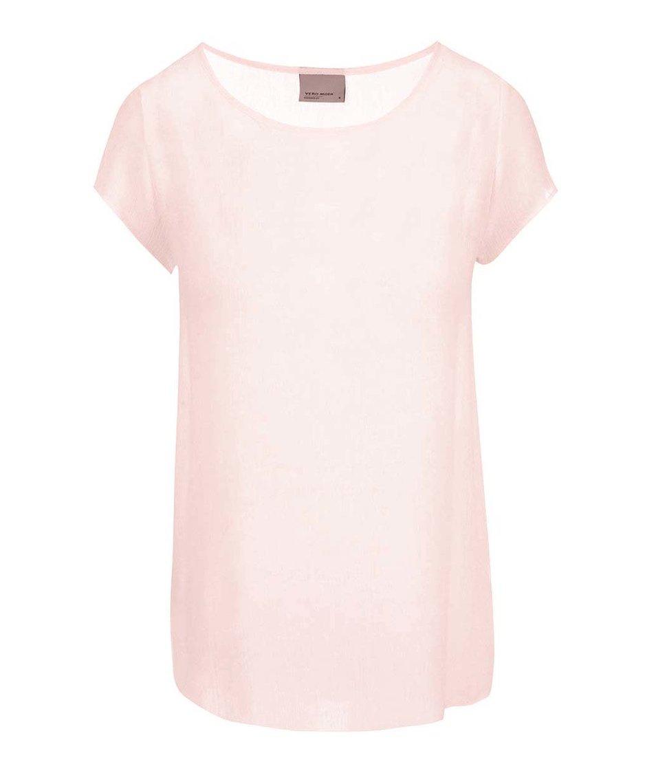 Světle růžová volnější halenka Vero Moda Boca