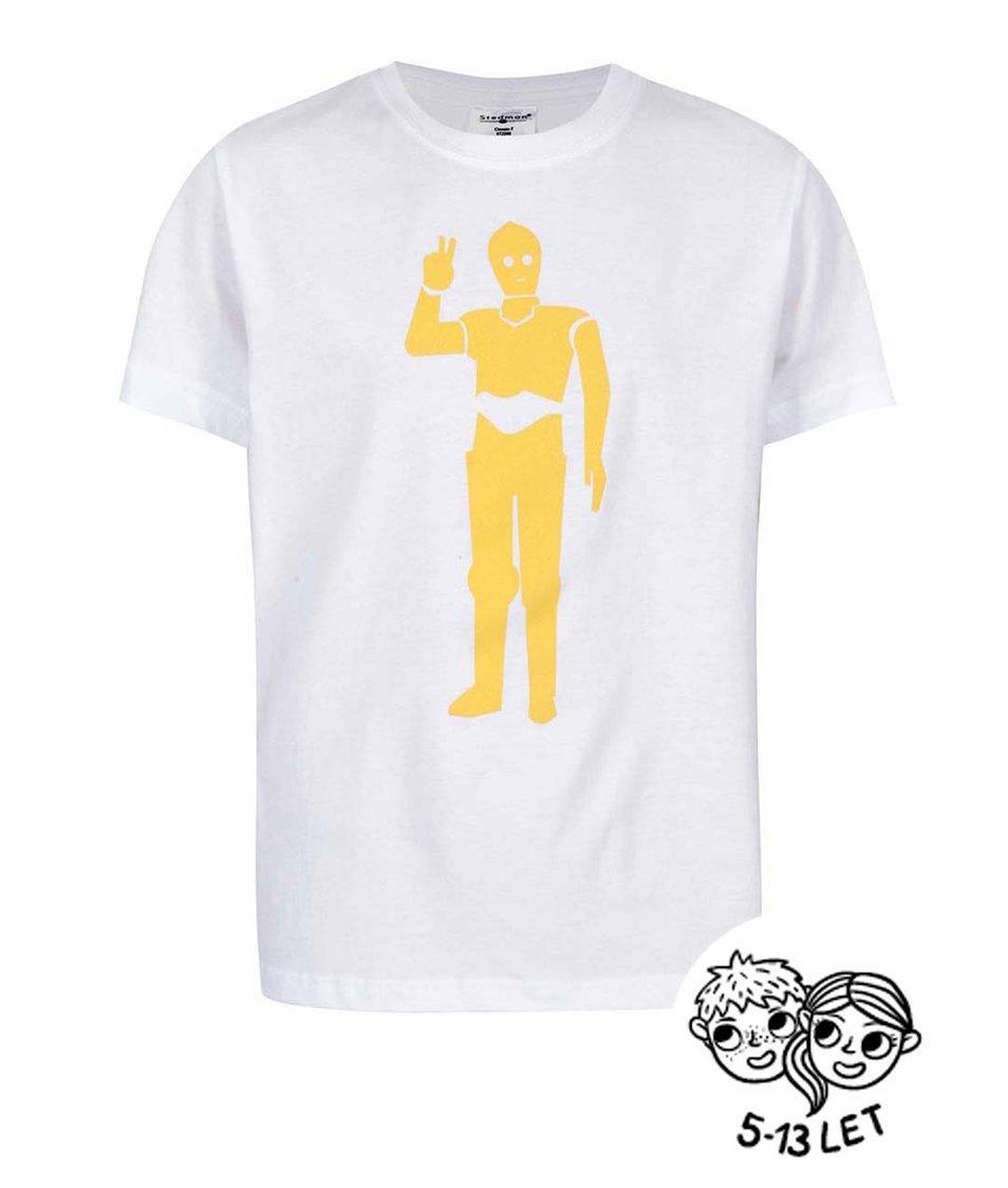 Bílé dětské tričko ZOOT Kids Droid