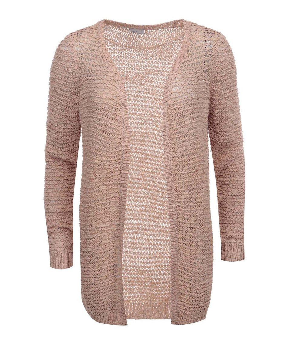 Růžový cardigan Vero Moda Verla