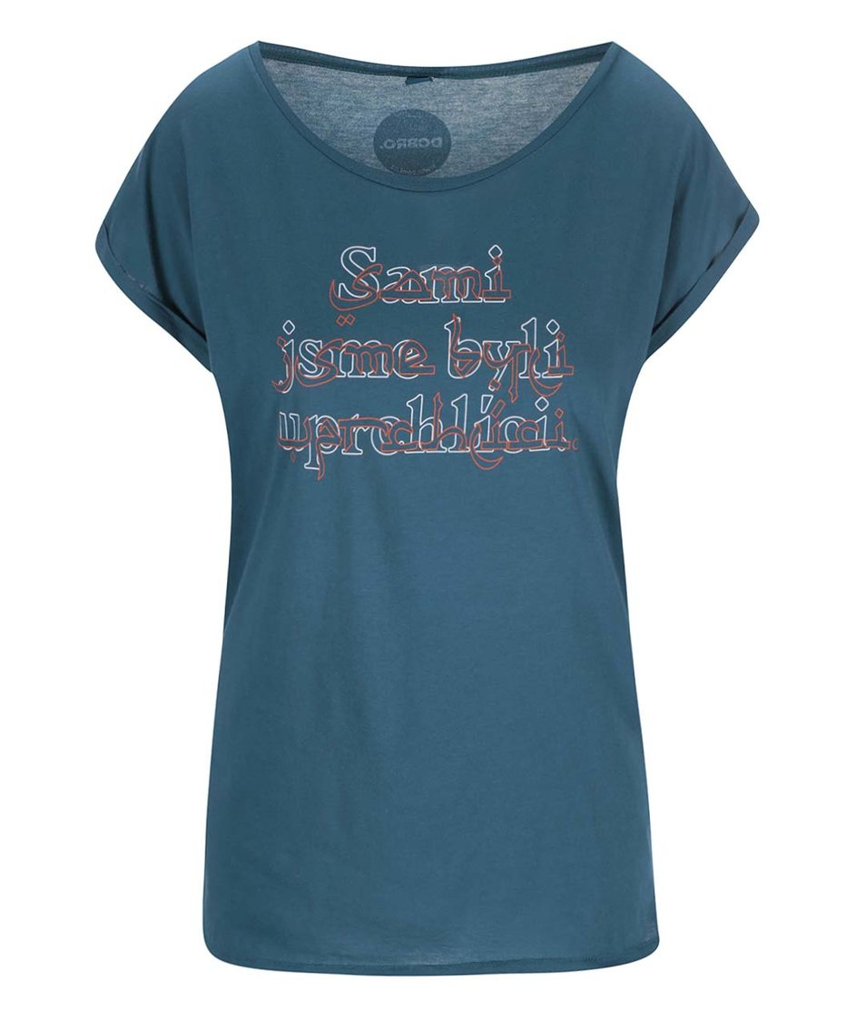 """""""Dobré"""" petrolejové dámské tričko pro OPU a UNHCR"""
