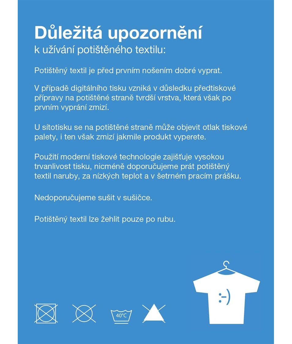 """""""Dobré"""" bílé pánské triko s potiskem pro OPU a UNHCR"""