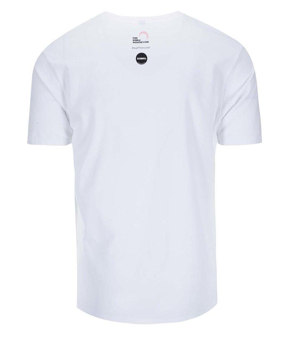 """""""Dobré"""" bílé pánské triko pro Pink Bubble Barbora Holotová"""