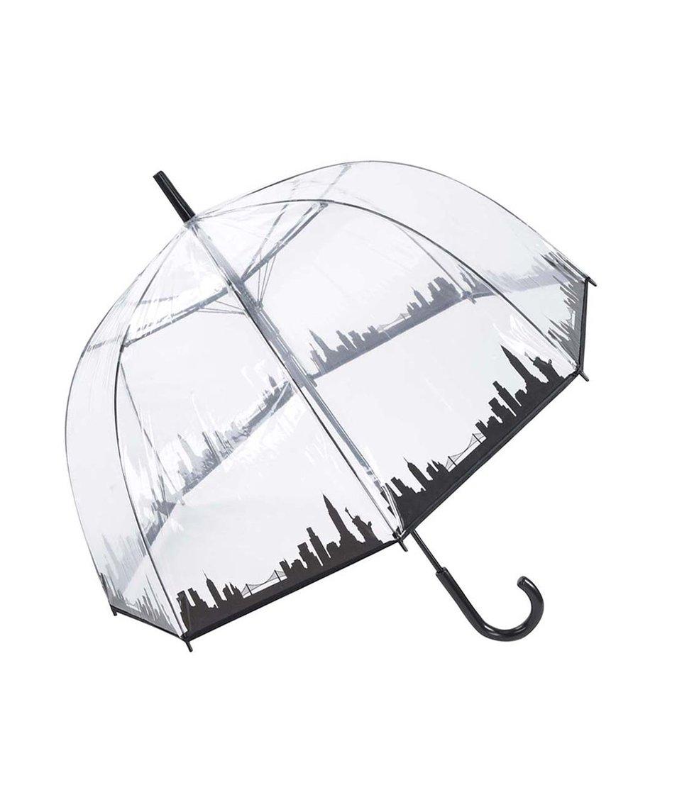 Průhledný deštník s panoramatem New Yorku Lindy Lou Skyline