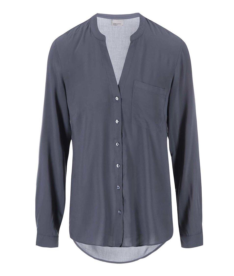 Modrošedá košile Vero Moda Sunshine