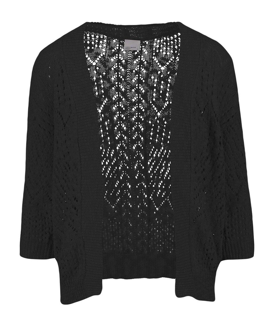 Černý tříčtvrteční cardigan Vero Moda Mally
