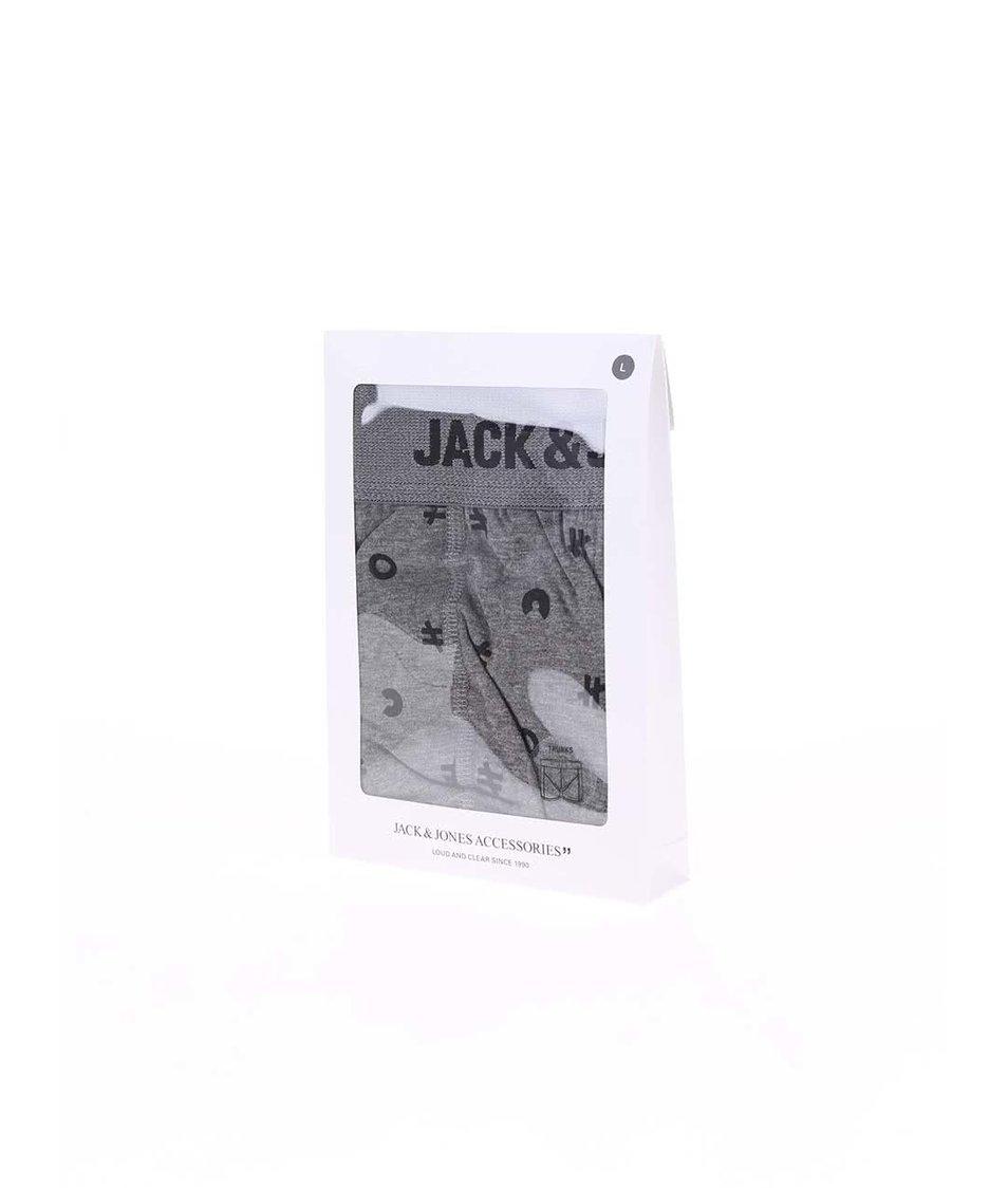 Šedé vzorované boxerky Jack & Jones Mini
