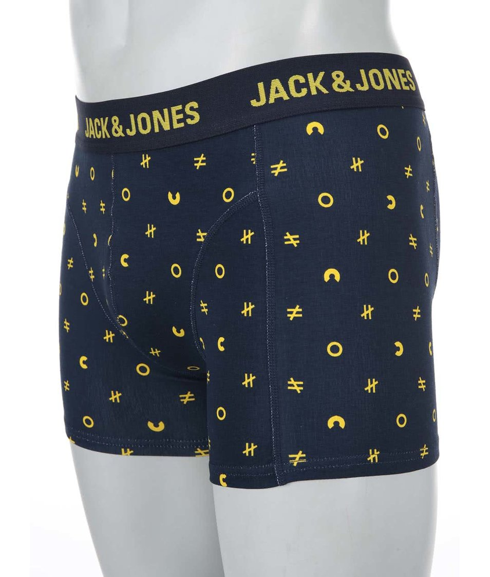 Tmavě modré vzorované boxerky Jack & Jones Mini