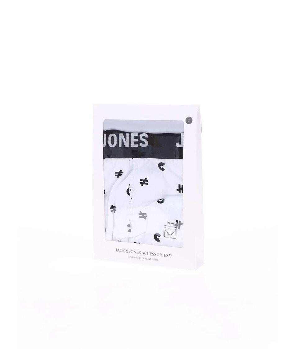Bílé vzorované boxerky Jack & Jones Mini