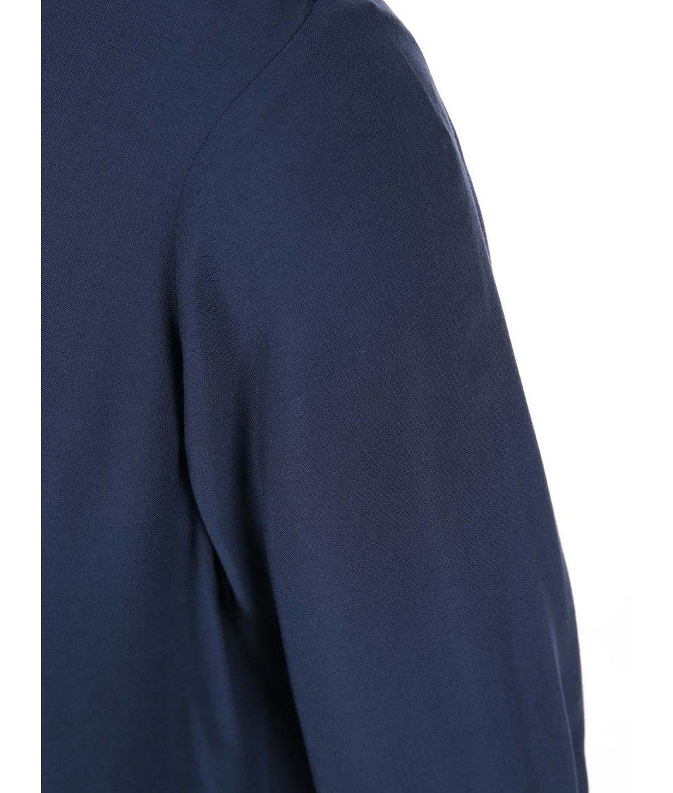 Tmavě modrá halenka s 3/4 rukávy Vero Moda Boca