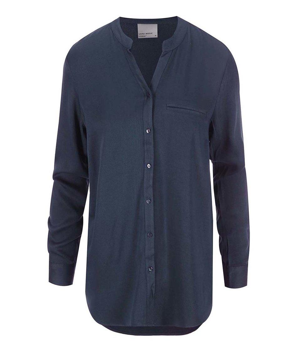 Tmavě modrá košile Vero Moda Measy