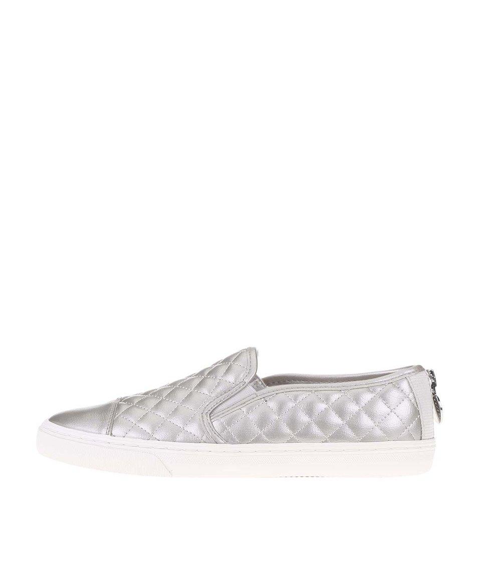 Dámské slip-on tenisky ve stříbrné barvě Geox New Club