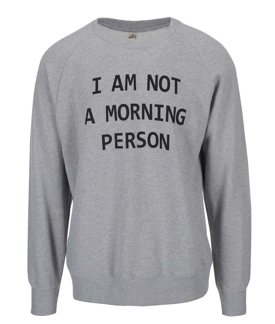 Šedá pánská mikina ZOOT Originál Morning Person