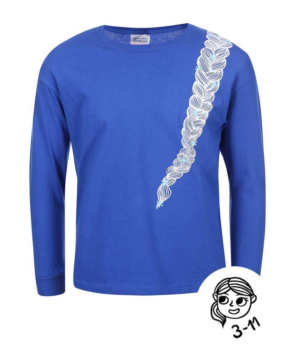 Modré holčičí tričko s dlouhým rukávem ZOOT Kids Copánek