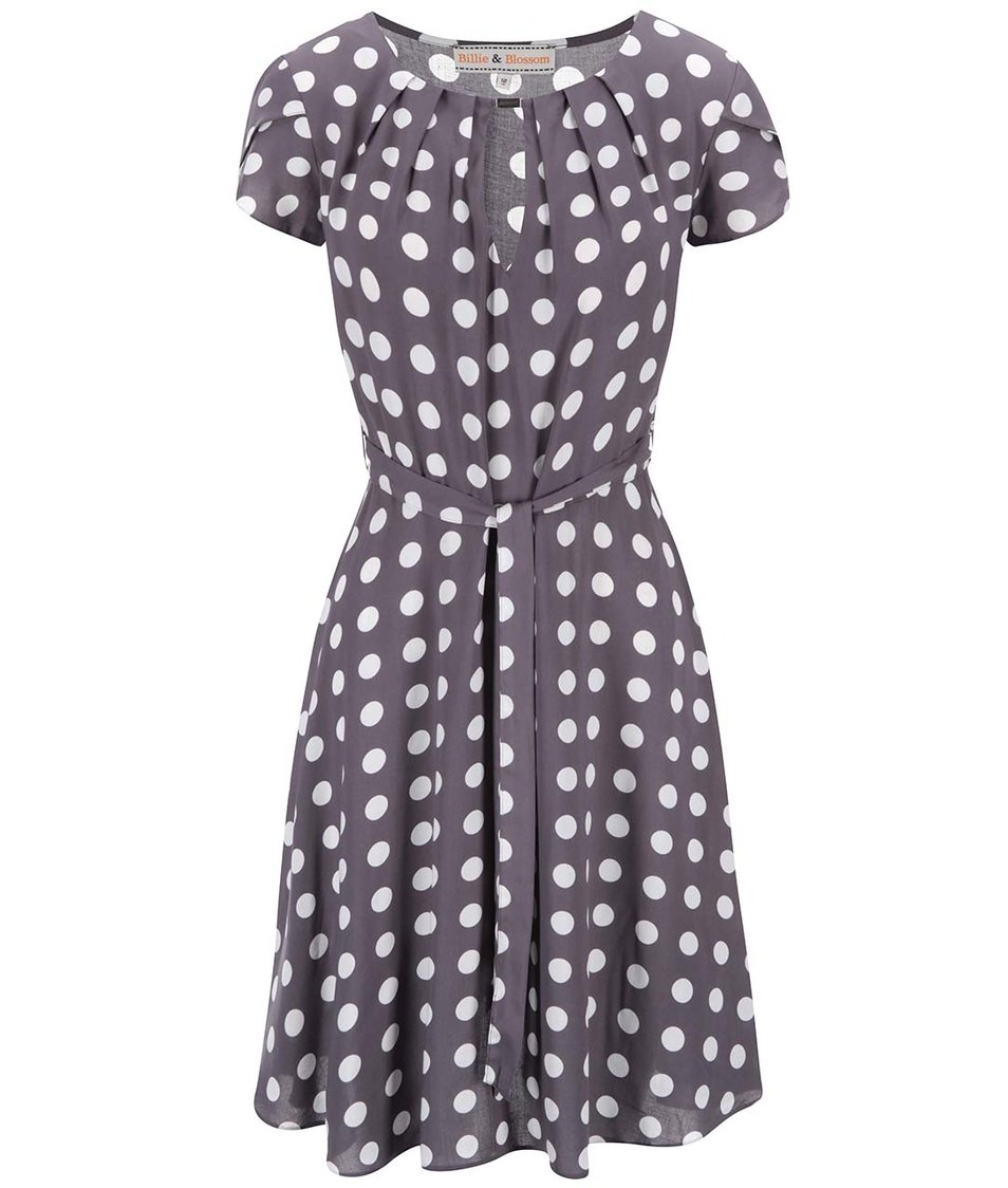 Šedé puntíkované šaty Dorothy Perkins