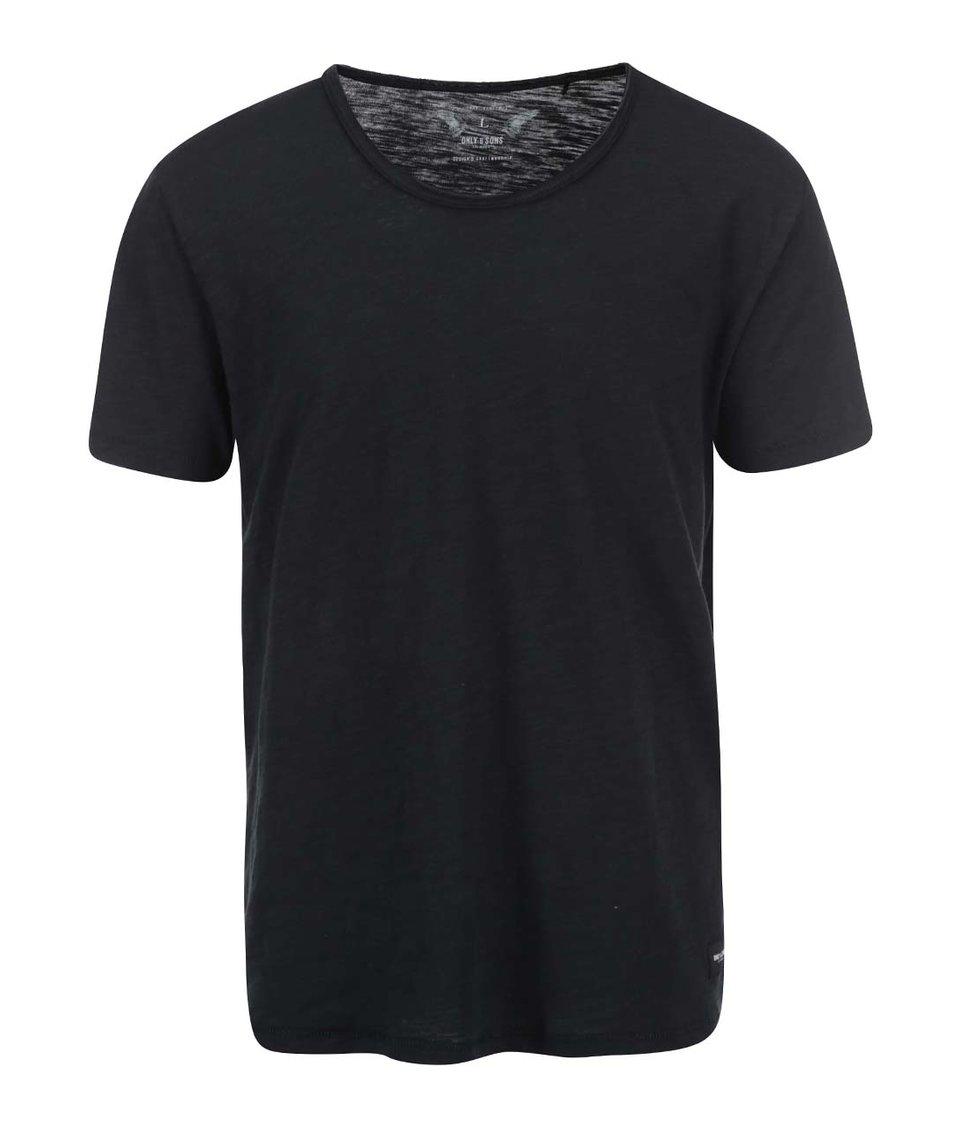 Černé triko ONLY & SONS Albert