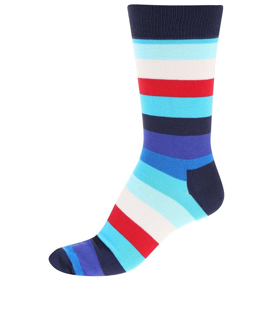 Barevné pánské pruhované ponožky Happy Socks Stripe