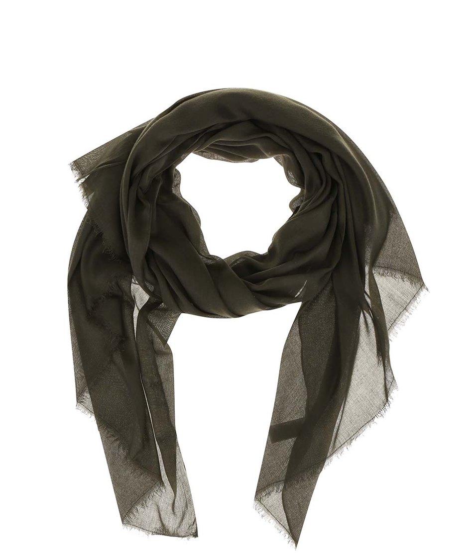 Zelený šátek Vero Moda Plain