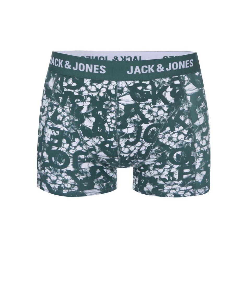 Zelené vzorované boxerky Jack & Jones Actrotype