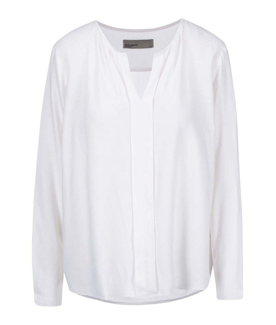 Bílá halenka s dlouhým rukávem Vero Moda Luca