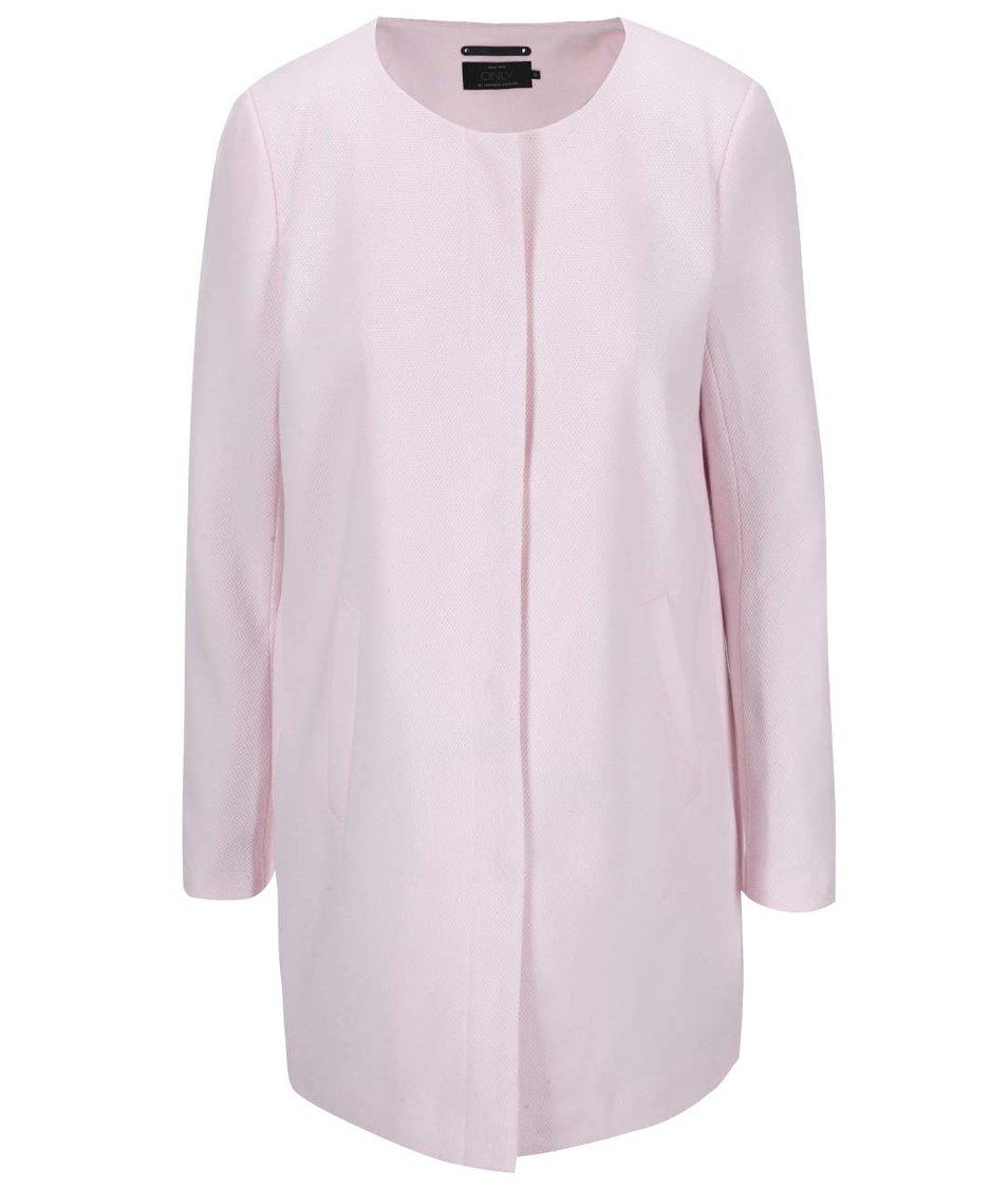 Světle růžový lehký kabát ONLY Sidney