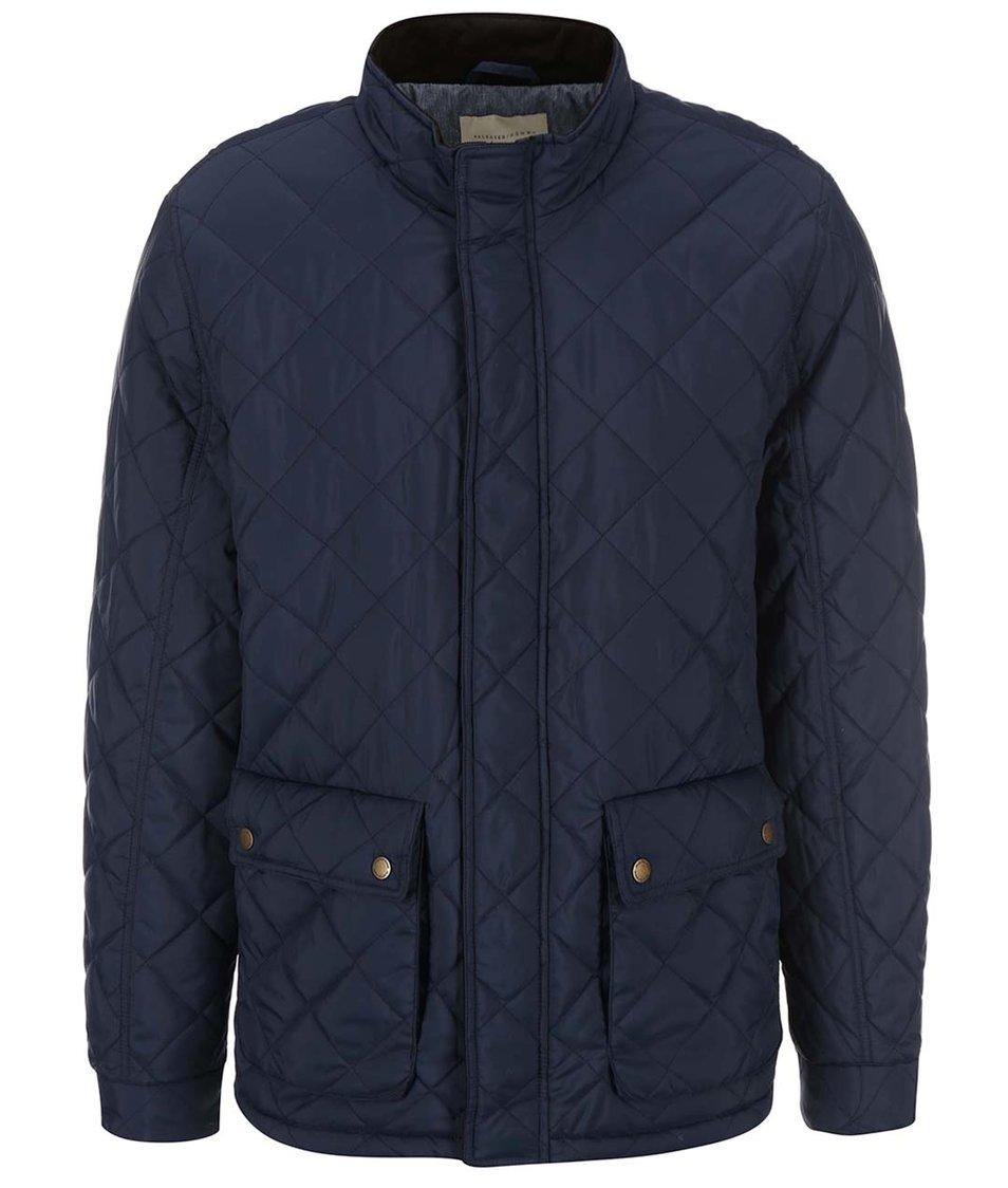 Tmavě modrá prošívaná bunda Selected Homme Parson