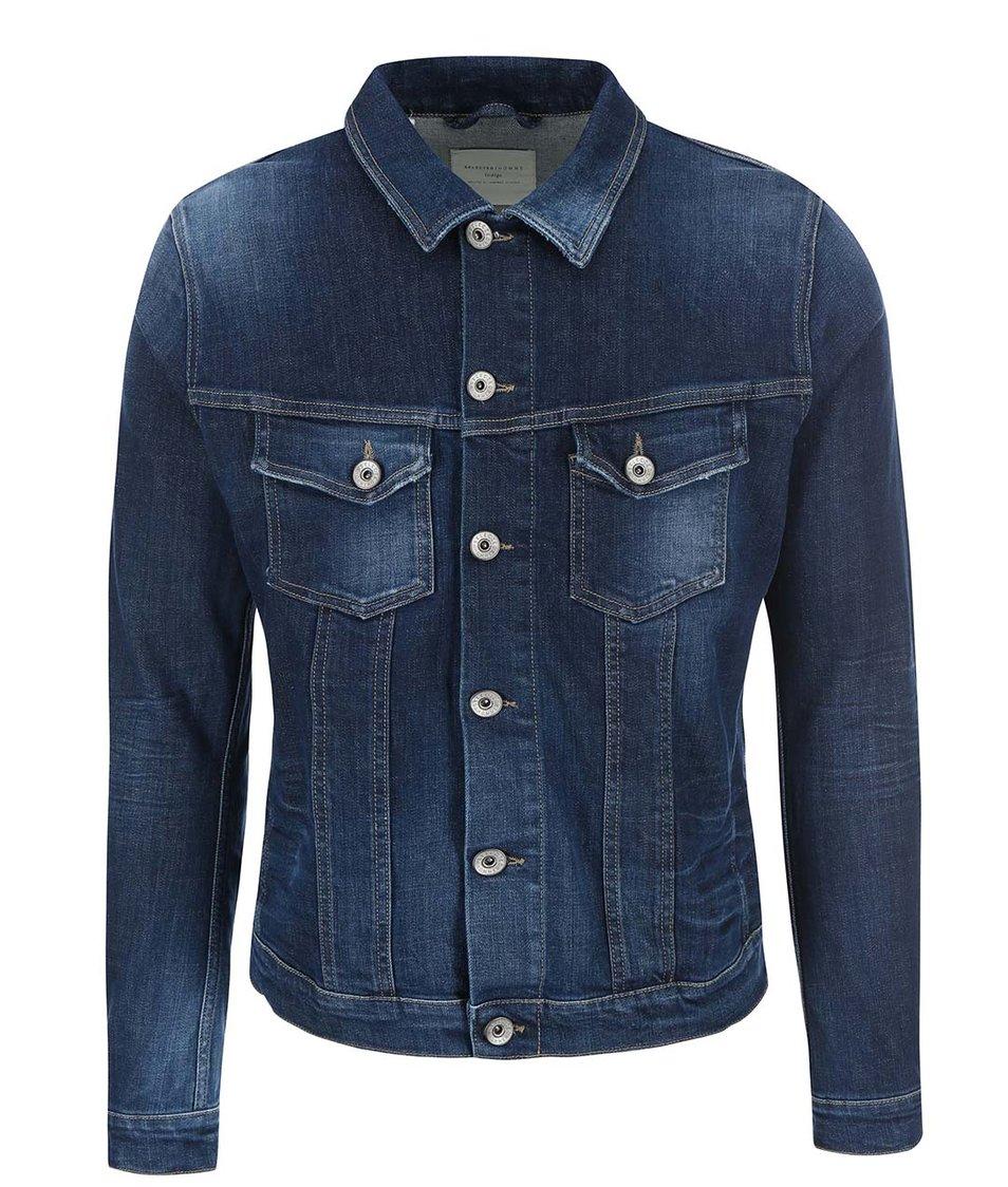 Tmavě modrá kratší džínová bunda Selected Homme Noel