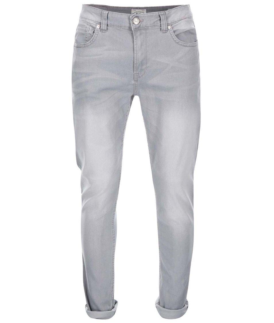 Světle šedé skinny džíny ONLY & SONS Loom