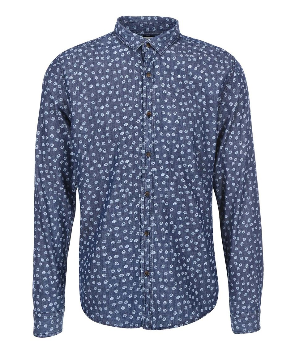 Bílo-modrá vzorovaná košile ONLY & SONS Adrian