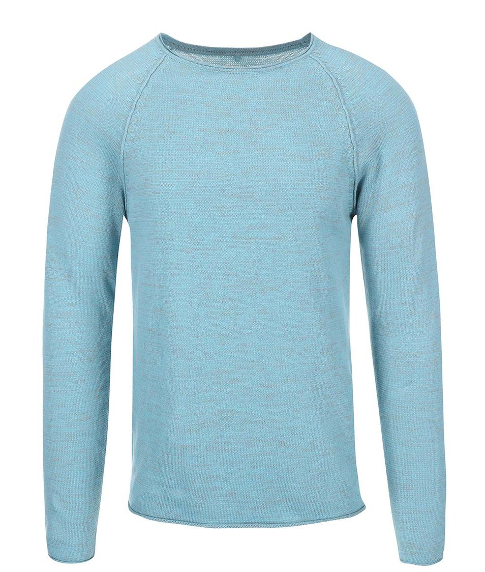 Modro-šedý žíhaný tenčí svetr Blend