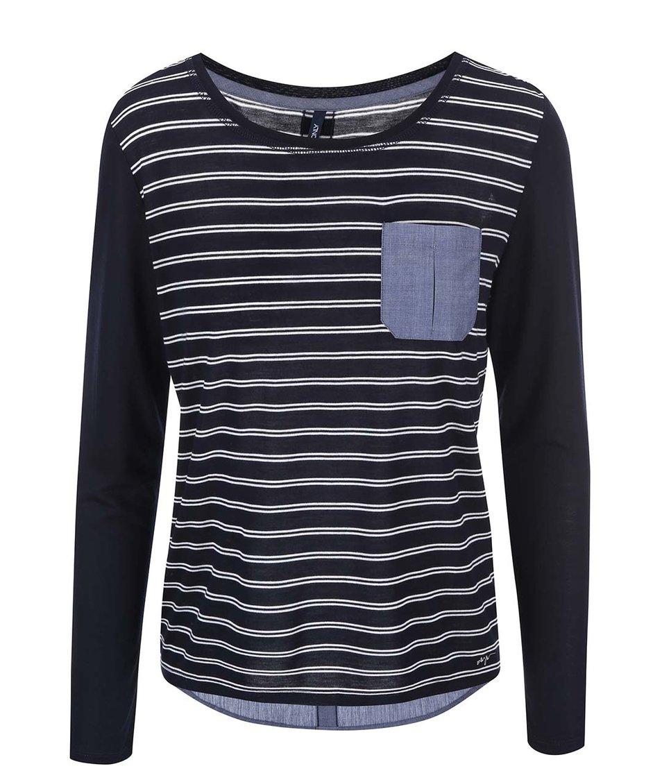 Tmavě modré pruhované tričko ONLY New Rocco