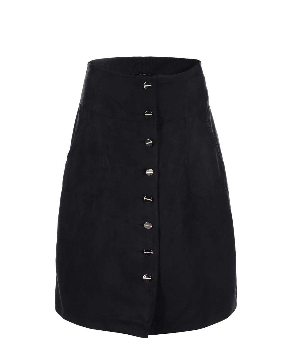 Černá sukně na knoflíky Dorothy Perkins
