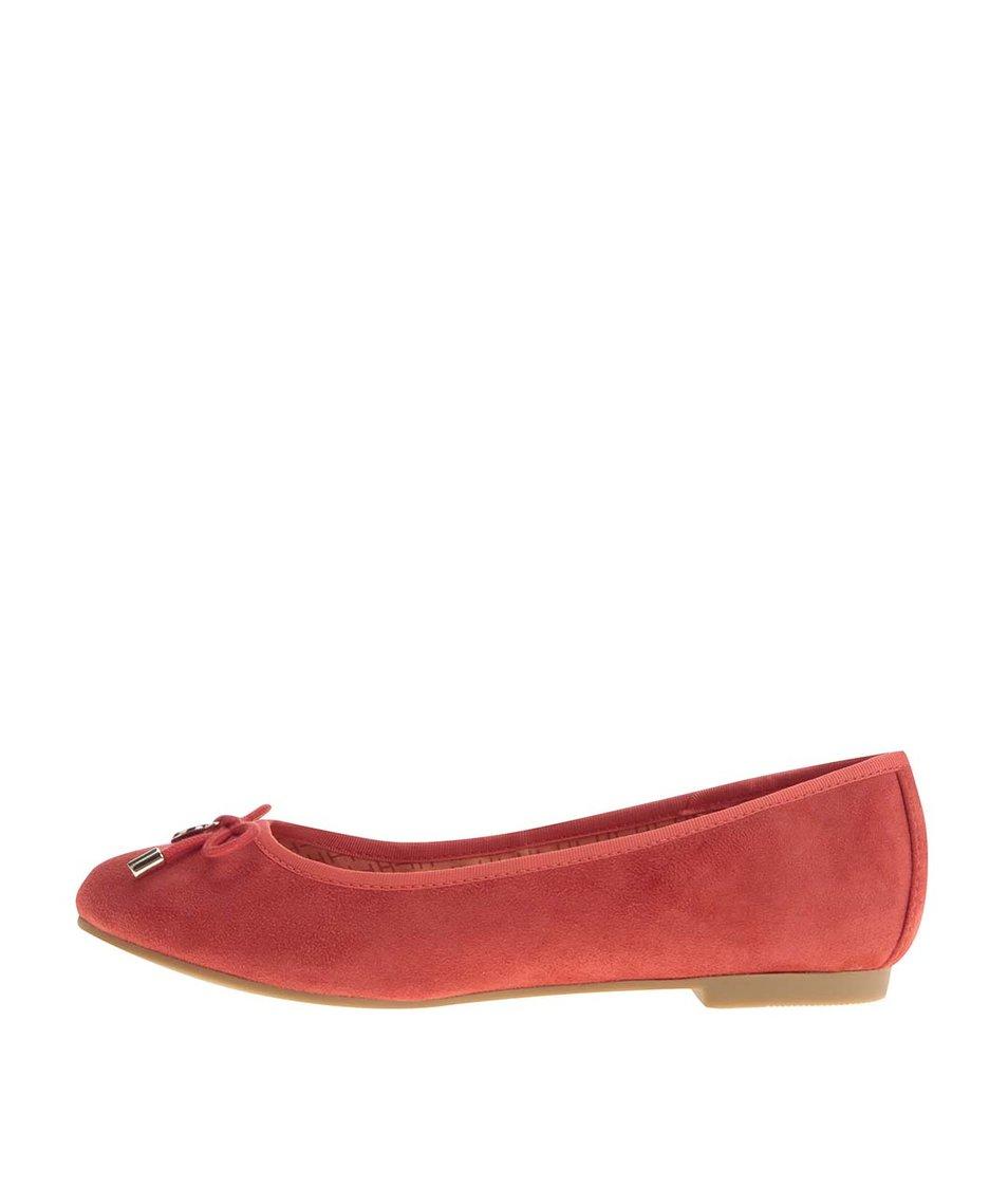 Červené semišové balerínky Tommy Hilfiger