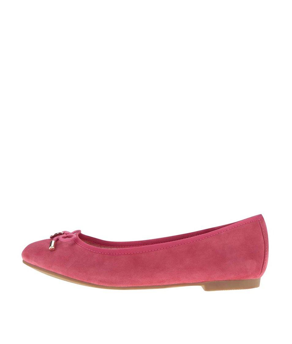 Růžové semišové balerínky Tommy Hilfiger
