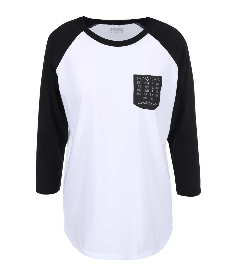 Černo-bílé dámské tirko s kapsou ZOOT Originál Lovestory