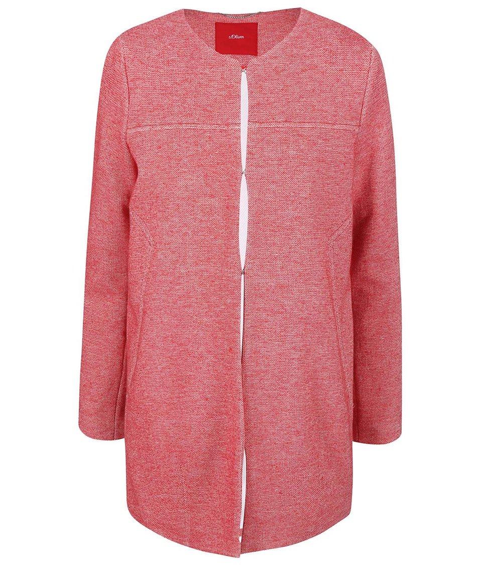 Červený dámský kabát s.Oliver