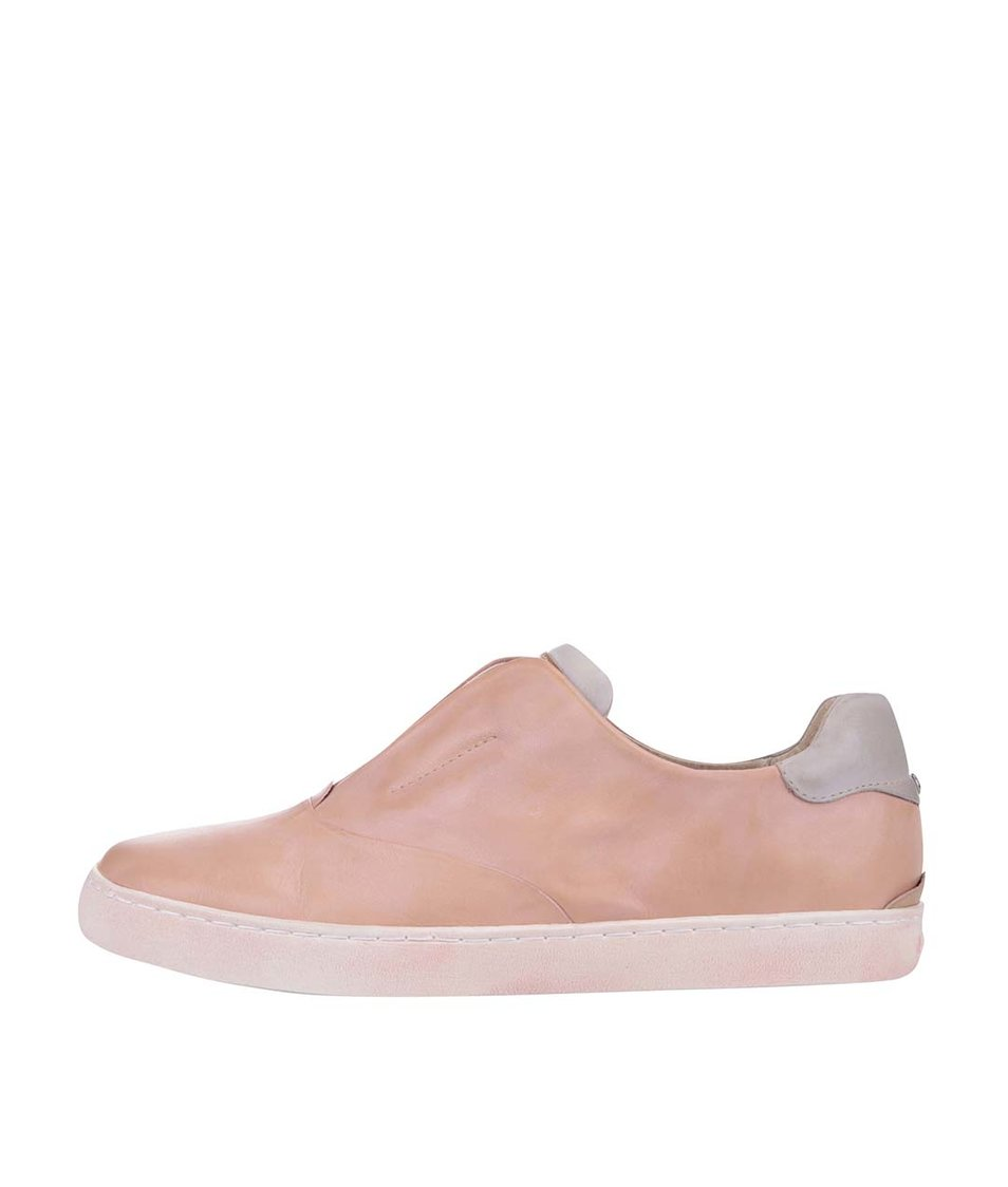 Růžové kožené slip-on tenisky Pikolinos Yorkville