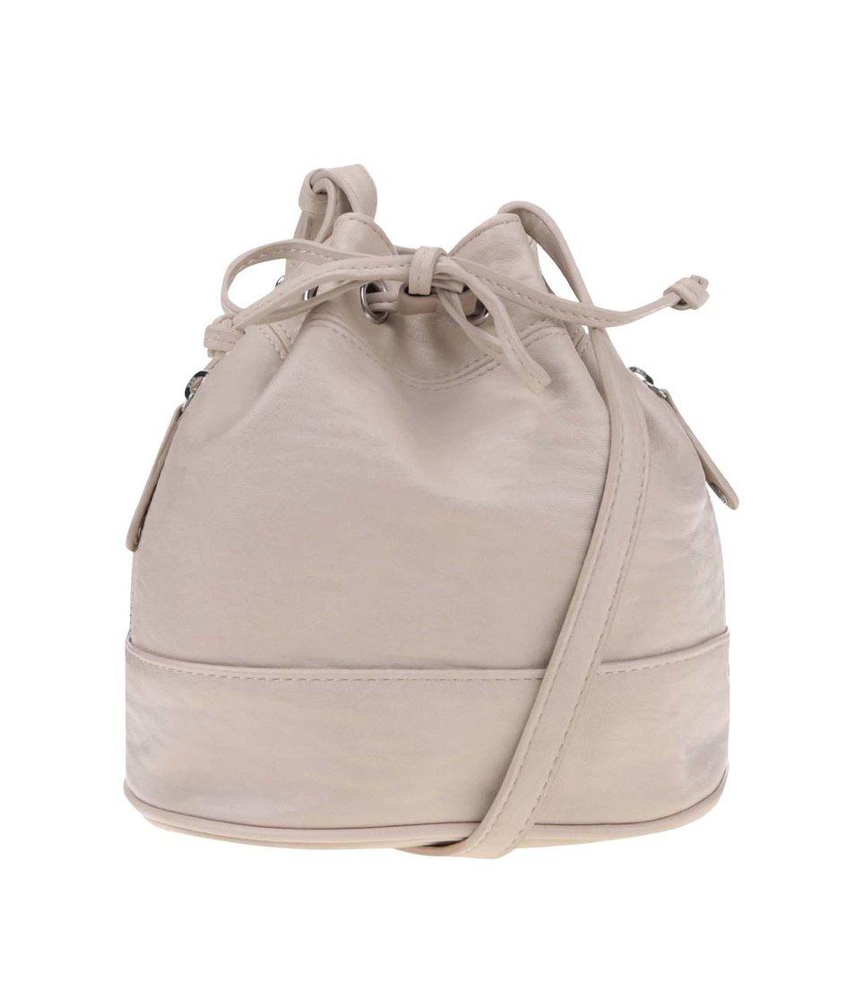 Krémová stahovací kabelka Pieces Tessa